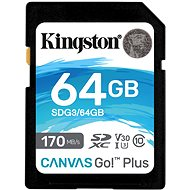 Kingston Canvas Go! Plus SDXC 64GB + SD adaptér - Pamäťová karta