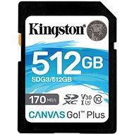Kingston Canvas Go! Plus SDXC 512GB + SD adaptér - Pamäťová karta