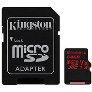 Kingston Canvas React microSDXC 64 GB A1 UHS-I V30 + SD adaptér - Pamäťová karta