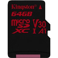 Kingston Canvas React microSDXC 64 GB A1 UHS-I V30 - Pamäťová karta