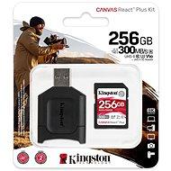 Kingston Canvas React Plus SDXC 256GB + SD adaptér a čítačka kariet - Pamäťová karta