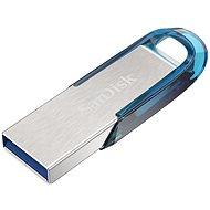SanDisk Ultra Flair 128 GB tropická modrá - USB kľúč
