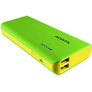 ADATA PT100 Power Bank 10 000 mAh zeleno-žltý