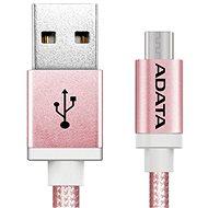 ADATA microUSB 1 m ružový - Dátový kábel