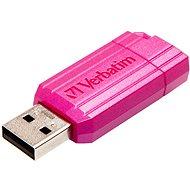 Verbatim Store 'n' Go PinStripe 64 GB, ružový - USB kľúč