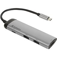 VERBATIM USB-C ADAPTÉR USB 3.1 GEN 1/2× USB 3.0/HDMI - USB Hub