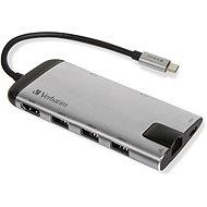 VERBATIM USB-C Multiport HUB USB 3.1 GEN 1/ 3× USB  3.0/HDMI/SDHC/microSDHC/RJ45 - Replikátor portov