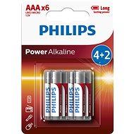 Philips LR03P6BP 6 ks v balení - Jednorázová batéria