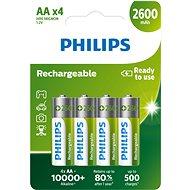 Philips R6B4B260 4 ks v balení - Nabíjateľná batéria
