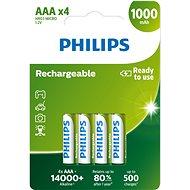 Philips R03B4RTU10 4 ks v balení - Nabíjateľná batéria