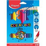 MAPED Farby Peps 18 farieb trojuholníkové - Pastelky