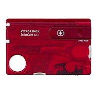 Multitool VICTORINOX Swiss Card Lite Translucent červený - Multitool