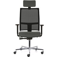 EMAGRA TAU sivá s hliníkovým krížom - Kancelárska stolička