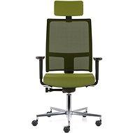 EMAGRA TAU zelená s hliníkovým krížom - Kancelárska stolička