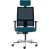EMAGRA TAU modrá s hliníkovým krížom - Kancelárska stolička