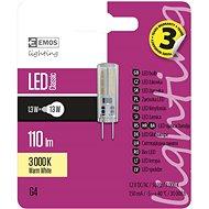 EMOS LED žiarovka Classic JC A++ 1,3 W G4 teplá biela - LED žiarovka
