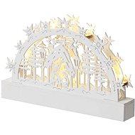 EMOS LED vianočný betlehem, 23 cm, 3× AA, teplá biela, časovač - Vianočné osvetlenie