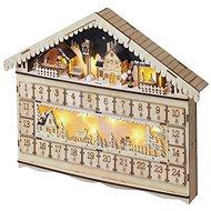 EMOS LED adventný kalendár, 19 × 40 cm, 2× AA, vnútorný, teplá biela - Vianočné osvetlenie