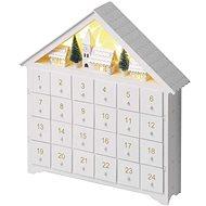 EMOS LED adventný kalendár, 35 × 30 cm, 2× AA, vnútorný, teplá biela - Vianočné osvetlenie