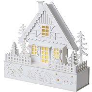 EMOS LED vianočný domček, 28 cm, 2× AAA, teplá biela, časovač - Vianočné osvetlenie
