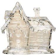 EMOS LED vianočný domček akrylový, 15 cm, 3× AAA, teplá biela - Vianočné osvetlenie