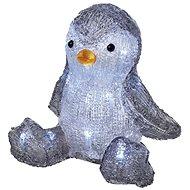 EMOS LED vianočný tučniak, 20 cm, 3× AA, vnútorný, studená biela, časovač - Vianočné osvetlenie