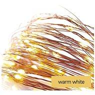 EMOS LED vánoční nano řetěz, 1,9 m, 2x AA, vnitřní, teplá bílá, časovač - Svetelná reťaz