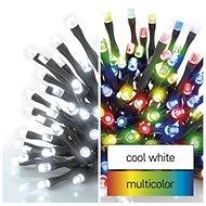 EMOS LED vánoční řetěz 2v1, 10 m, venkovní i vnitřní, studená bílá/multicolor, programy - Svetelná reťaz