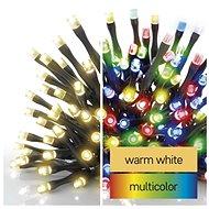 EMOS LED vánoční řetěz 2v1, 10 m, venkovní i vnitřní, teplá bílá/multicolor, programy - Svetelná reťaz