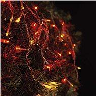 EMOS Spojovacia Standard LED reťaz pulzujúca – cencúle, 2,5 m, červená/jantárová