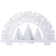 EMOS LED dekorácia – stojanček stromčeky, 2× AA, teplá biela, časovač
