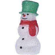 EMOS LED dekorácia – snehuliak, 3× AA, IP20, studená biela, časovač - Vianočné osvetlenie