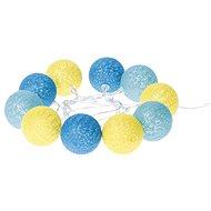 EMOS LED girlanda - gule bavlnené, leto, 2× AA, teplá biela, čas. - Vianočné osvetlenie