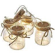 EMOS LED vianočná girlanda – 5 × poháre, 3 × AA, teplá biela, časovač - Vianočné osvetlenie