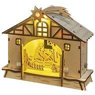 EMOS LED vianočný betlehem, 17 cm, 2× AA, teplá biela, časovač - Dekoratívne osvetlenie