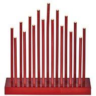 EMOS LED - Vianočná dekorácia - červený svietnik, 3× AA, teplá b., čas. - Vianočný svietnik