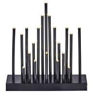 EMOS LED vianočná dekorácia – čierny svietnik, 3× AA, teplá biela, časovač - Dekoratívne osvetlenie