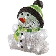 EMOS LED vianočný snehuliak, IP44, studená biela, časovač - Vianočné osvetlenie