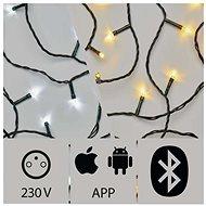 Aplikáciou ovládaná LED vianočná reťaz, 20 m, vonkajšia, studená/teplá biela - Vianočná reťaz