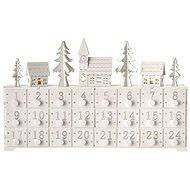 LED adventný kalendár, 37 × 23 cm, 2× AA, vnútorný, teplá biela - Vianočné osvetlenie
