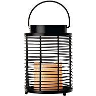 LED dekorácia – lampáš pozdĺžny mriežka, 3× AAA, blikajúca, teplá biela - Vianočný lampáš