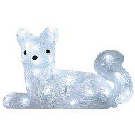 LED vánoční liška, 32cm, venkovní, studená bílá, časovač - Dekoratívne osvetlenie