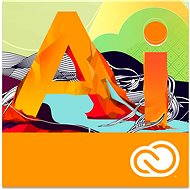 Adobe Illustrator Creative Cloud MP ML (incl. CZ) Commercial (12 Months) (Electronic license) - Graphics Software