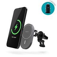 Epico Ellipse Wireless Car Charger (MagSafe compatible) 15 W/10 W/7,5 W + 18 W QC Silver - Nabíjačka do auta