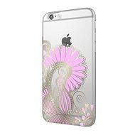 Epico Hoco Flower pre iPhone 6/6S transparentný biela/ružová