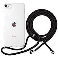 Kryt na mobil Epico Nake String Case iPhone 7/8/SE – biela transparentná/čierna