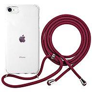 Kryt na mobil Epico Nake String Case iPhone 7/8/SE  – biela transparentná/červená