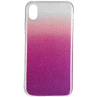 Epico Gradient na iPhone XR – strieborný/fialový
