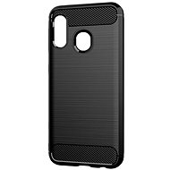 Kryt na mobil Epico CARBON Samsung Galaxy A20e – čierny - Kryt na mobil