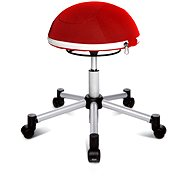TOPSTAR Sitness Half Ball červená - Kancelárska stolička